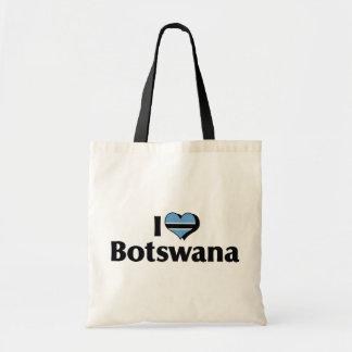 I Love Botswana Flag Tote Bag