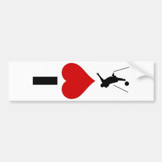 I Love Bowling (Vertical) Bumper Sticker