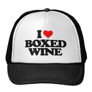I LOVE BOXED WINE TRUCKER HAT