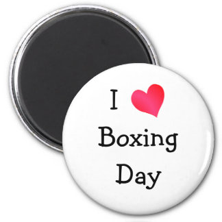 I Love Boxing Day 6 Cm Round Magnet
