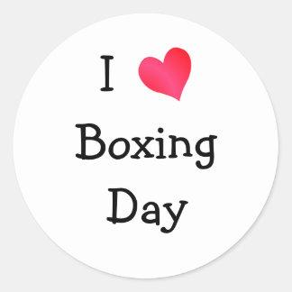 I Love Boxing Day Round Sticker
