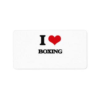 I Love Boxing Address Label