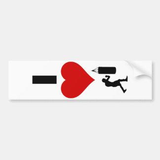 I Love Boxing (Vertical) Bumper Sticker