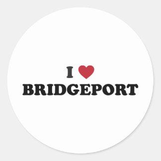 I Love Bridgeport Connecticut Classic Round Sticker