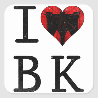 I Love Brooklyn BK NYC Square Sticker