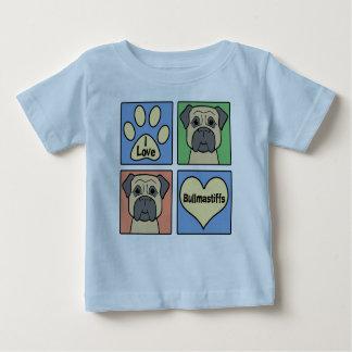 I Love Bullmastiffs Baby T-Shirt