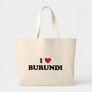 I Love Burundi Large Tote Bag