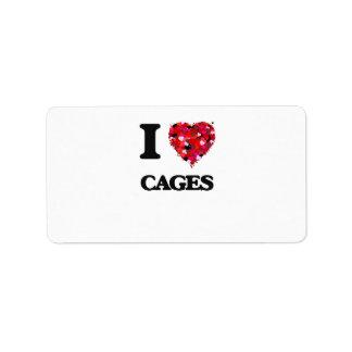 I love Cages Address Label