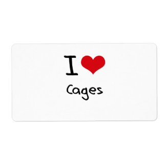 I love Cages Shipping Label