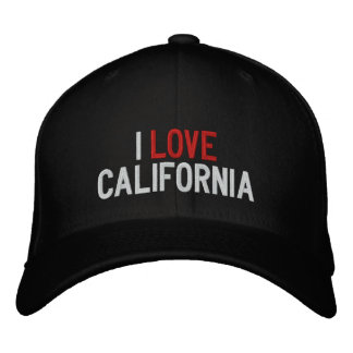 I LOVE CALIFORNIA EMBROIDERED HAT