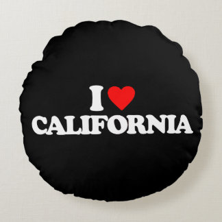 I LOVE CALIFORNIA ROUND CUSHION