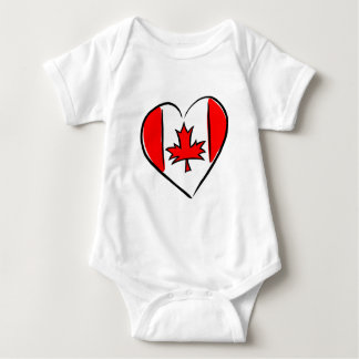 I Love Canada Baby Bodysuit