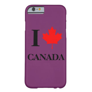 I Love Canada Purple Barely There iPhone 6 Case
