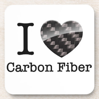 I Love Carbon Fiber Coaster