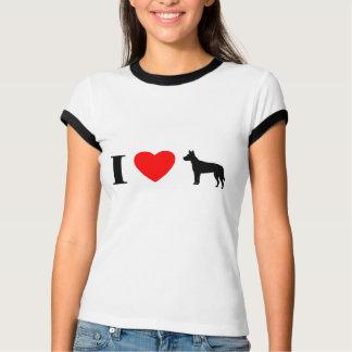 I Love Carolina Dogs Ladies Ringer T-Shirt