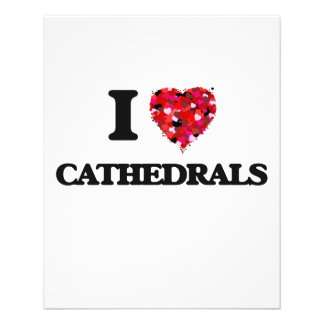 I love Cathedrals 11.5 Cm X 14 Cm Flyer