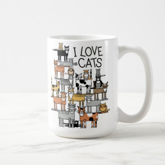 I Love Cats Basic White Mug