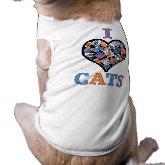I Love Cats - Collage Heart Shirt