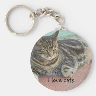 """""""I love cats"""" keychain"""