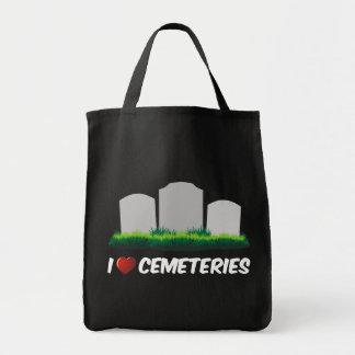 I Love Cemeteries Tote Bag