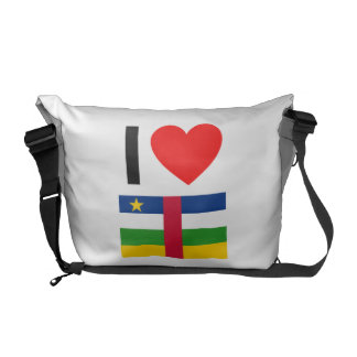 i love central african republic courier bag