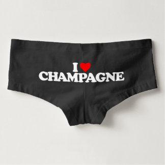 I LOVE CHAMPAGNE HOT SHORTS