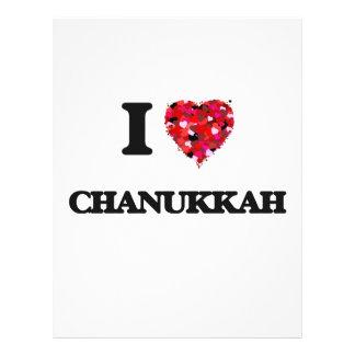 I love Chanukkah 21.5 Cm X 28 Cm Flyer