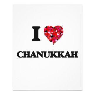 I love Chanukkah 11.5 Cm X 14 Cm Flyer