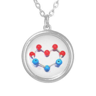I Love Chemistry Silver Plated Necklace