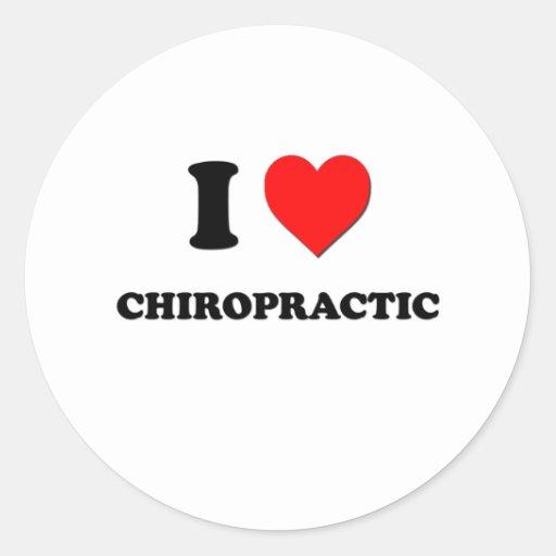 I love Chiropractic Round Stickers