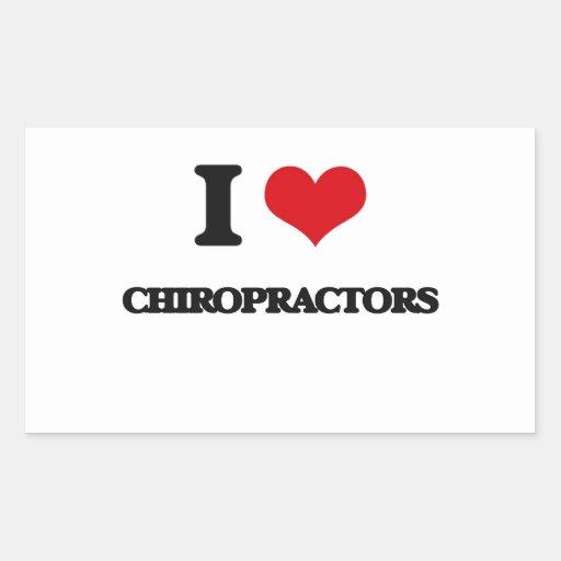 I love Chiropractors Rectangular Sticker