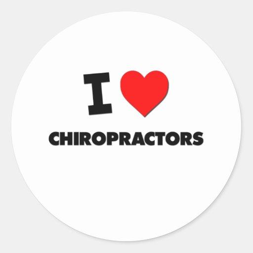 I Love Chiropractors Sticker
