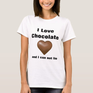 I Love Chocolate Funny Tshirt