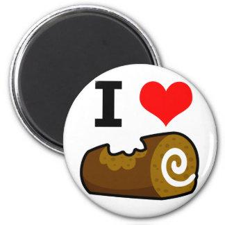 I Love Chocolate Log Magnet