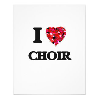 I love Choir 11.5 Cm X 14 Cm Flyer