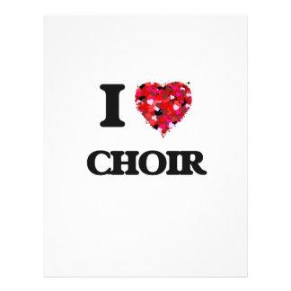 I love Choir 21.5 Cm X 28 Cm Flyer