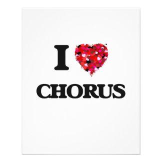 I love Chorus 11.5 Cm X 14 Cm Flyer