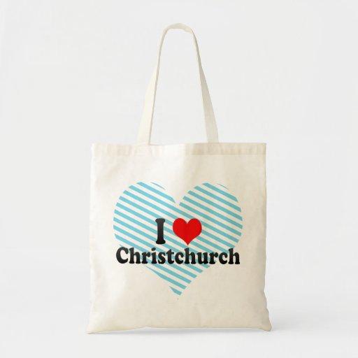 I Love Christchurch, New Zealand Tote Bag