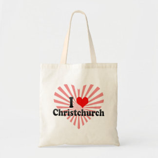 I Love Christchurch, New Zealand Canvas Bag