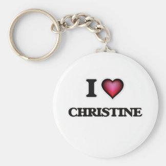 I Love Christine Key Ring