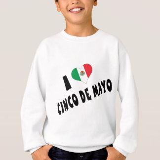 I Love Cinco de Mayo Kids Sweatshirt