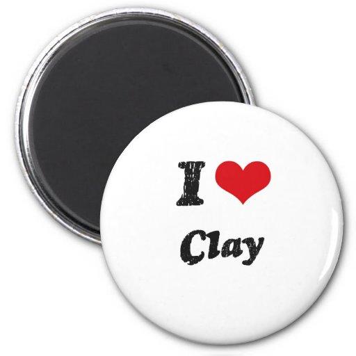 I love Clay Fridge Magnets