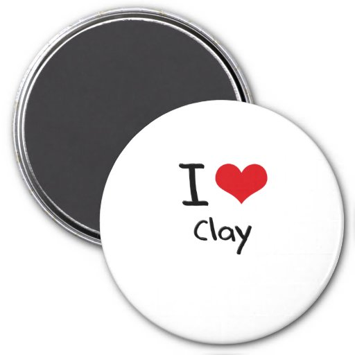 I love Clay Magnets