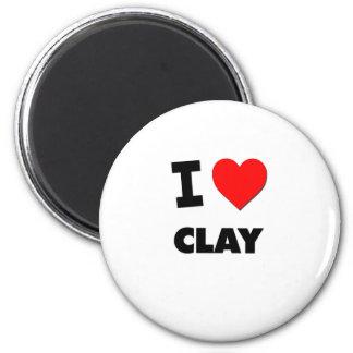 I love Clay Fridge Magnet