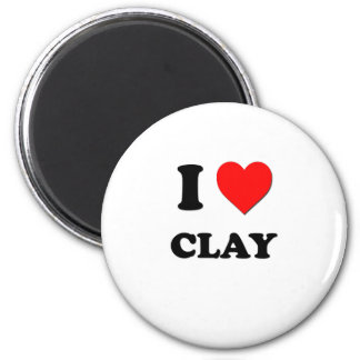 I love Clay Refrigerator Magnet