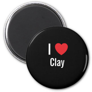 I love Clay Refrigerator Magnets