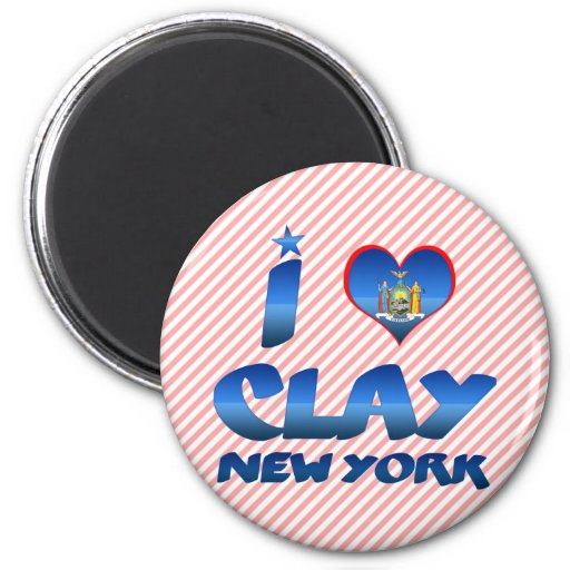 I love Clay, New York Fridge Magnets