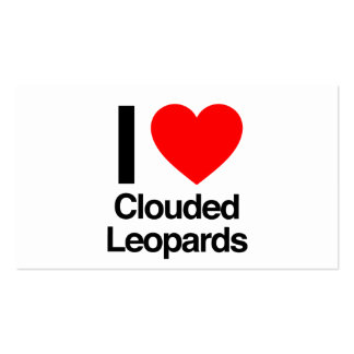 i love clouded leopards pack of standard business cards