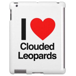 i love clouded leopards iPad case