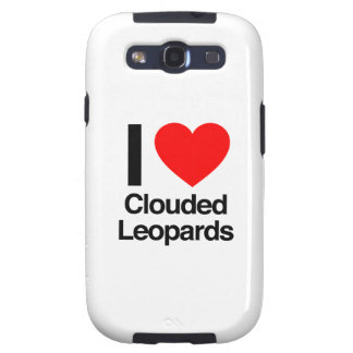 i love clouded leopards samsung galaxy SIII cover